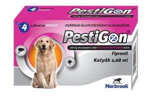 PESTIGON SPOT ON L 4X 20-40KG / 4 DB PIPETTÁVAL! állatgyógyszertár