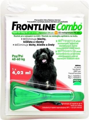 FRONTLINE COMBO KUTYA XL állatgyógyszertár