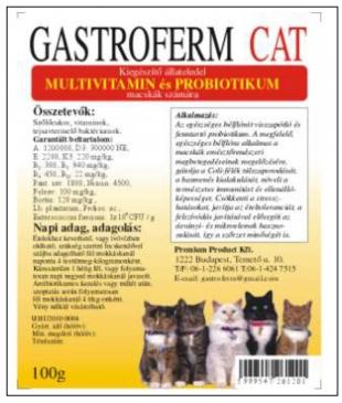 Gastroferm Cat probiotikum állatgyógyszertár